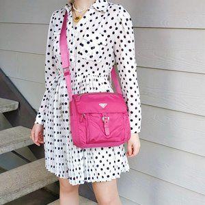Prada Fuxia Pink Nylon Crossbody Bag